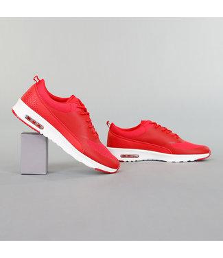 Basic Rode Sneakers met Witte Zool
