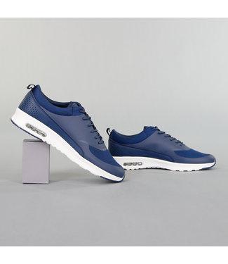 Basic Blauwe Sneakers met Witte Zool