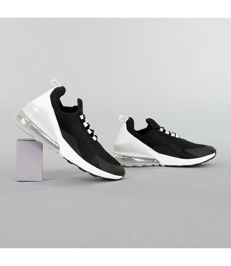 Zwarte Neopreen Heren Sneakers met Witte Hiel