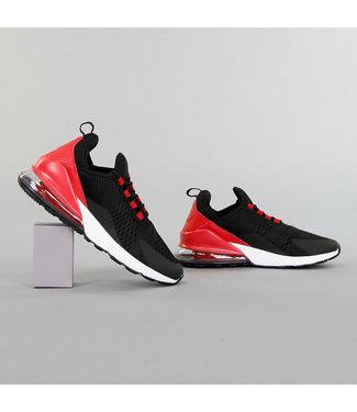 Zwarte Neopreen Heren Sneakers met Rode Hiel