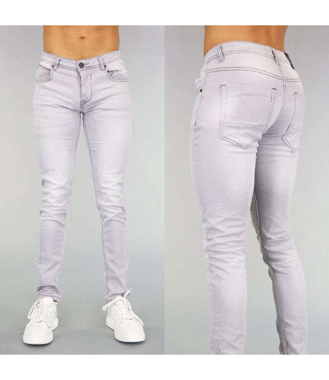 !OP=OP Grijze Skinny Heren Jeans