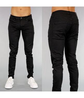 Zwarte Skinny Heren Jeans
