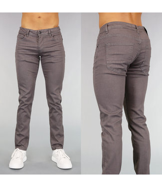 Grijze Slim Fit Heren Jeans