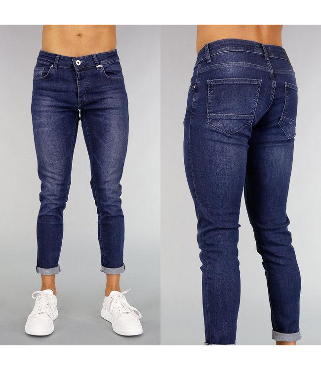 Donkerblauwe Basic Heren Skinny Jeans