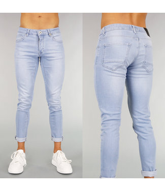 Lichtblauwe Basic Heren Skinny Jeans