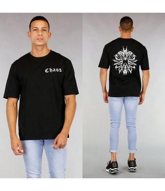Zwart Chaos Heren T-Shirt
