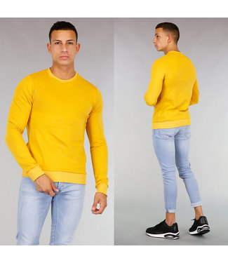 !OP=OP Gele Basic Sweater