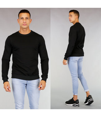 !OP=OP Zwarte Basic Sweater