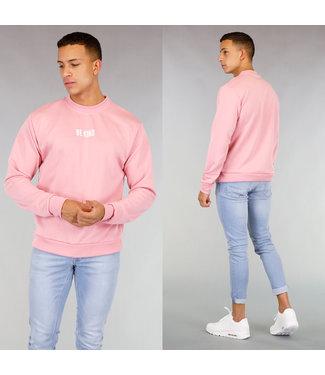 Lichtroze Be Kind Heren Sweater