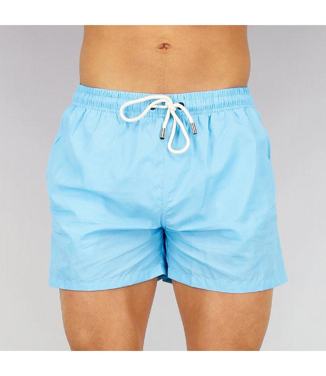 Korte Lichtblauwe Basic Heren Zwembroek