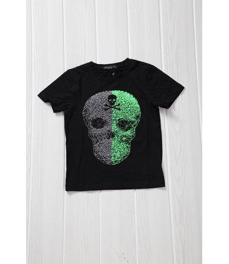 !SALE40 Zwart Grafisch Kinder Skull Shirt
