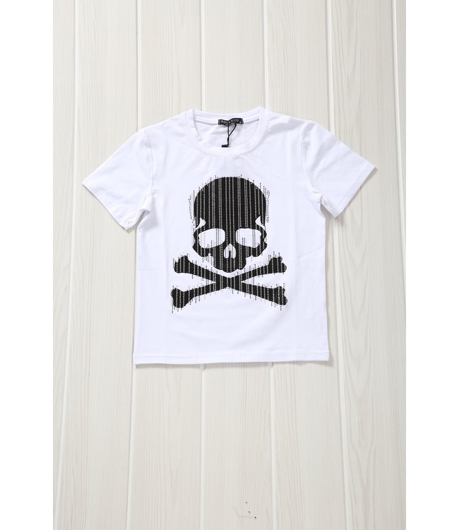 NEW! Wit Kids Shirt met Skull