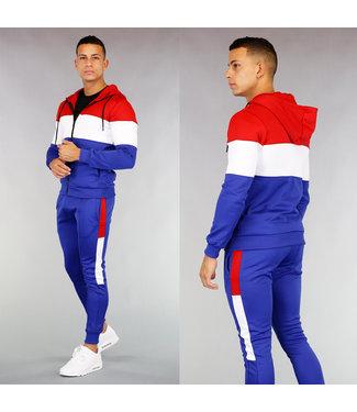 !OP=OP Rood Wit Blauw Heren Joggingpak