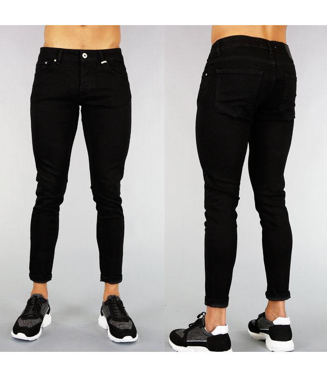 Zwarte Basic Heren Skinny Jeans