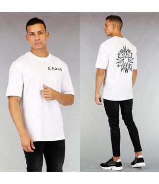 Wit Chaos Heren T-Shirt