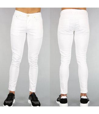NEW! Witte Basic Heren Spijkerbroek
