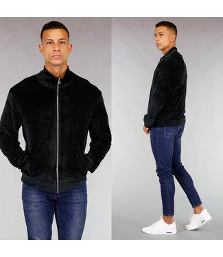 !OP=OP Comfy Zwart Velvet Heren Vest
