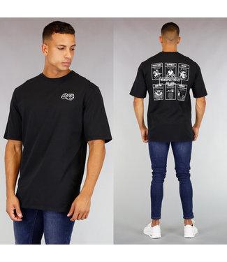 !OP=OP Zwart Heren Bordspel T-Shirt
