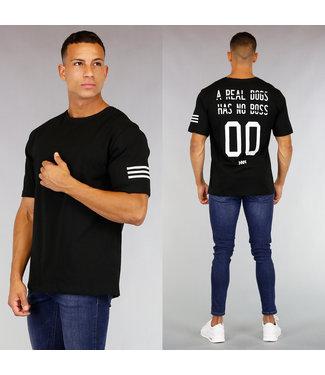 !OP=OP Zwart Heren T-Shirt met Bedrukte Rug