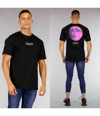 Zwart Oversized Moon Heren Shirt