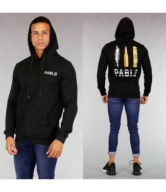 Zwarte Pablo Heren Hoodie