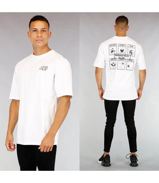 !OP=OP Wit Heren Bordspel T-Shirt