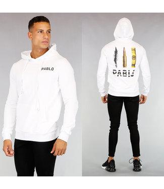 Witte Pablo Heren Hoodie