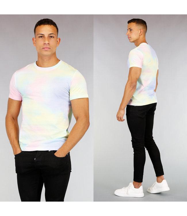 Pastel Heren Tie Dye Shirt