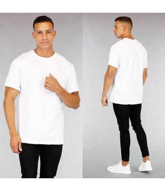 Oversized Wit Katoenen Heren T-Shirt