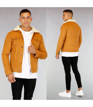 !OP=OP Cognac Gevoerd Heren Rib Jacket