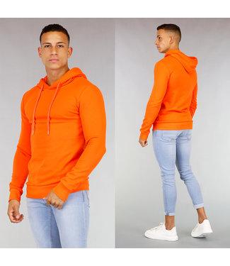 Oranje Heren Hoodie met Capuchon
