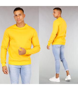 Okergele Katoenen Heren Sweater