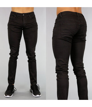 Zwarte Slim Fit Heren Jeans