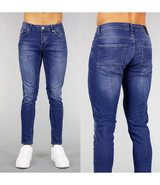 !OP=OP Blauwe Basic Heren Skinny Jeans