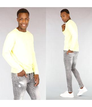 !OP=OP Gele Katoenen Heren Sweater