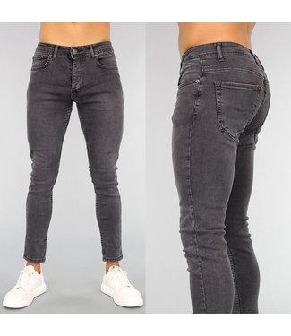 Donkergrijze Basic Heren Skinny Jeans