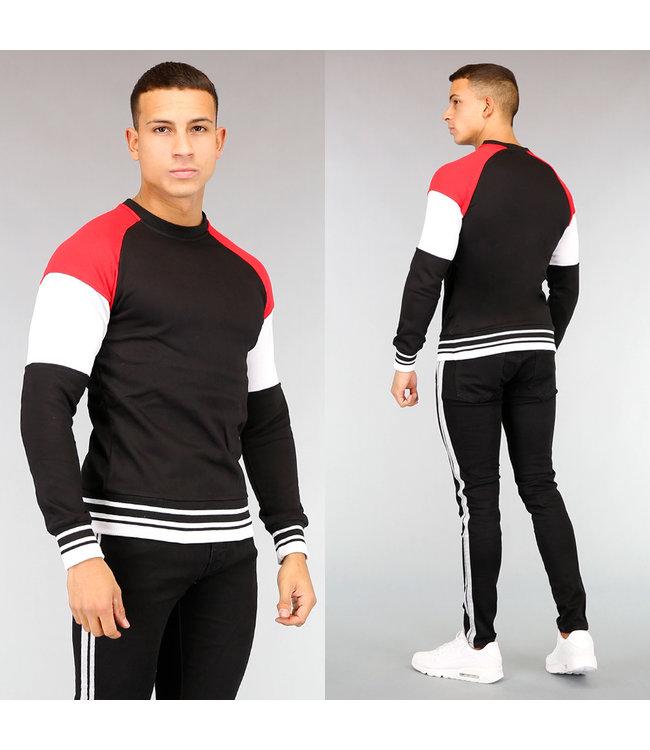 Sporty Multicolor Heren Sweater