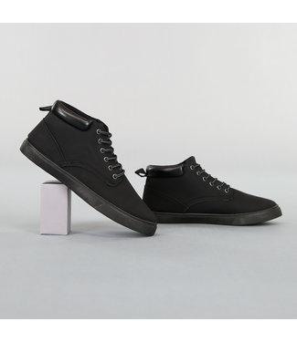 Zwarte Hoge Lederlook Heren Schoenen