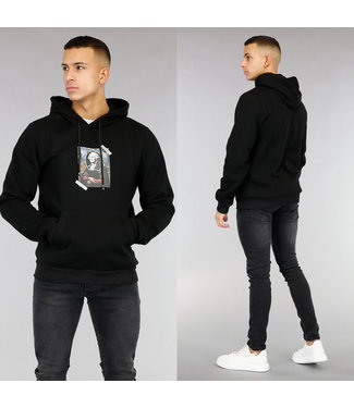 Zwarte Heren Hoodie met Afbeelding