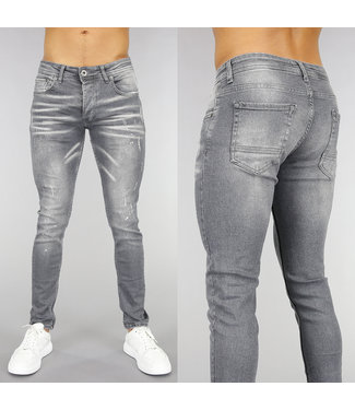 NEW! Grijze Old Look Skinny Jeans