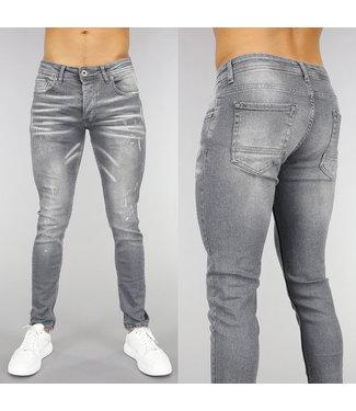 !OP=OP Grijze Old Look Skinny Jeans
