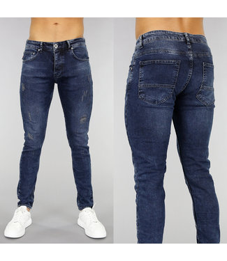 Donkerblauwe Old Look Heren Jeans