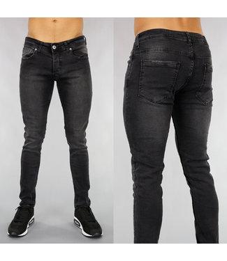 Zwarte Heren Jeans met Lichte Wassing