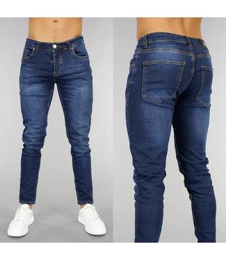 !OP=OP Basic Donkerblauwe Slim Fit Heren Jeans