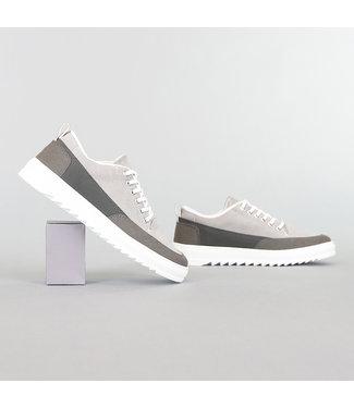 Grijze Suède-Look Heren Sneakers