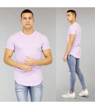 !OP=OP Lila Halflang Heren T-Shirt met Reliëf