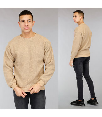 Beige Teddy Heren Sweater