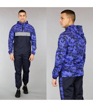!OP=OP Navy Heren Tracksuit met Camouflageprint
