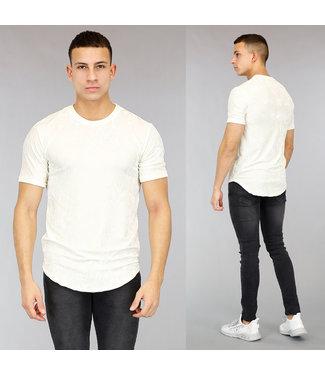 Ecru Velvet Heren T-Shirt