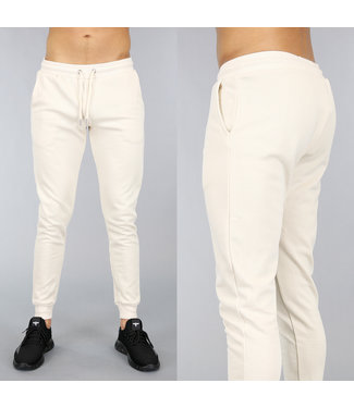 Basic Beige Heren Joggingbroek